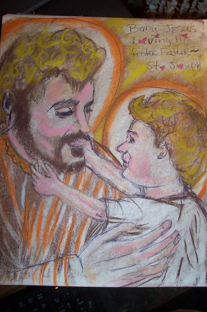Saint Joseph, Jesus Christ par cindykron